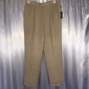Chaps mens pleated dress pants